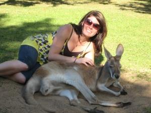Kangaroo cuddles!